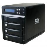 """Корпус внешний для HDD 3.5"""" AgeStar 3C4B3A SATA II алюминий черный LCD (3C4B3A)"""