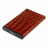 """Корпус внешний для HDD 2.5"""" Gembird EE2-U2S-70L-BR, SATA, USB 2.0, коричневый (металл+кожзам)"""