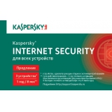 ПО Антивирус Kaspersky Internet Security Multi-Device 3ПК 1year Карта (KL1941ROCFR)(продление)