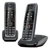 Телефон Dect Gigaset C530 DUO черный (труб. в компл.:2шт) АОН(C530 DUO)