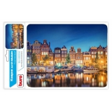 Коврик для мыши Buro BU-M10034 рисунок/Амстердам (BU-M10034)