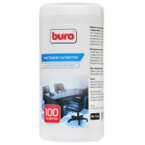 Чистящие салфетки BURO для поверхностей  в тубе 100 шт (BU-TSURL)