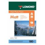 Бумага Lomond A5 180г/м2 50л матовая для струйной печати фото (0102068)