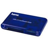 Кардридер памяти USB2.0 Hama H-55348 синий(00055348)