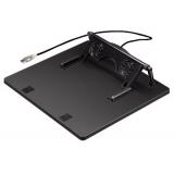 Подставка Hama H-39796 -кулер для ноутбука USB 2 вентилятора регул. накл.до 20 град поворотная черн (00039796)