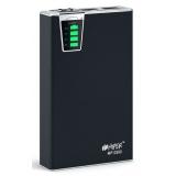 Аккумулятор внешний Hiper MP12500 12500mAh, два USB-порта (5V/1000mА, 5V/2100mА), набор переходников, встроенный фонарь и кардридер,  черный