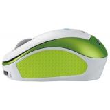 Мышь Genius Micro Traveler 9000R для ноутбука оптическая (1200dpi) беспроводная USB белый/зеленый