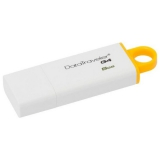 Флэш-диск 8Gb Kingston DTIG4 USB 3.0 White/Yellow