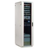 """Шкаф 19"""" напольный 42U 600x800, дверь стекло, серый (ЦМО ШТК-М-42.6.8-1ААА)"""