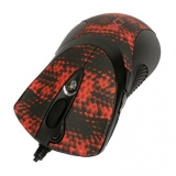 Мышь A4TECH XL-740K черный/красный лазерная (3600dpi) USB игровая (6but)