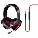 Наушники с микрофоном A4TECH Bloody G500 (дуговые закрытого типа с микрофоном) black+red