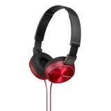 Наушники накладные Sony MDRZX310R.AE 1.2м красный проводные (оголовье)(MDRZX310R.AE)