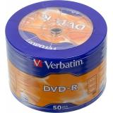 Диск DVD-R Verbatim 4.7Gb 16x Cake box 50шт AZO matt silver wagon wheel (43731)
