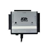"Адаптер USB IDE/SATA 2.5""/3.5""/5.25"" с блоком питания, алюминий, USB2.0"