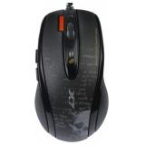 Мышь A4TECH V-Track F5 черный/рисунок лазерная (3000dpi) USB игровая (6but)