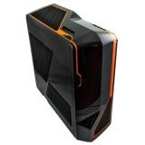 Корпус NZXT Phantom черный/оранжевый w/o PSU E-ATX 1x140mm 2x200mm 1xUSB2.0 1xUSB3.0 1xE-SATA audio front door bott PSU(NZXT PHANT BO)