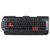 Клавиатура A4TECH X7-G800MU Multimedia Gamer (подставка для запястий) PS/2+USB черный/серый