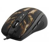 Мышь A4TECH XL-750BH рисунок черно-коричневая лазерная (3600dpi) USB2.0 игровая (6but)
