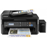 МФУ струйное цветное Epson L566 (A4, принтер/сканер/копир/факс, ADF, LAN, Wi-Fi, СНПЧ) (C11CE53403)