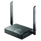Маршрутизатор Zyxel Keenetic Omni II 802.11n/b/g 300Mbps, 4x10/100 LAN, 1x10/100 WAN, 1xUSB 2.0 (сервер печати, подключение внешнего носителя, 3G/4G-модема), две внешние антенны 3dBi, аппаратная поддержка IP-телевидения