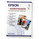 Бумага Epson A3 251г/м2 20л Premium Semigloss Photo Paper S041334