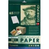 Бумага Lomond A4 70г/м2 50л самоклеящаяся, 65 делений 38x21,2мм (2100215)