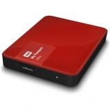 """Жесткий диск внешний 2.5"""" 1Tb WD (USB3.0) WDBDDE0010BBY-EEUE My Passport Ultra красный"""