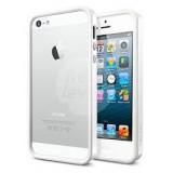 Чехол-бампер для Apple iPhone 5 SGP Neo Hybrid EX Snow (белый) + защитная пленка на экран (SGP09517)