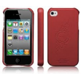 Чехол-крышка для Apple iPhone 4/4s SGP Genuine Leather Grip Infinity (кожаный, красный) (SGP06921)