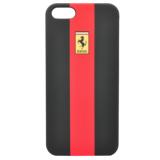 Чехол-крышка для Apple iPhone 5 Ferrari Rubber (поликарбонат, красный) (FERU5GRE)