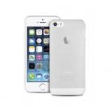Чехол-крышка для Apple iPhone 5 (мягкий пластик, прозрачный/сиреневый край) (CH)