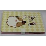 Чехол-подставка для Apple iPad 2/3/4 TabBook (кожзам бежевый кролик Molang в шляпе) (CH)