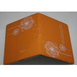 Чехол-подставка для Apple iPad 2/3/4 TabBook (кожзам оранжевый одуванчик) (CH)