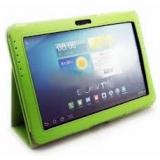 Чехол-подставка для Samsung Galaxy Tab 2 10.1 P5100/5110 Jet.A SC10-1 (кожаный, черный, зеленый интерьер)