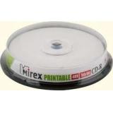 Диск CD-R Mirex 700 Mb 48-х printable Cake box 10