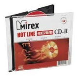 Диск CD-R Mirex HOTLINE 700Mb 48-х slim box