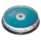 Диск CD-RW Mirex 700 Mb 4-12х Cake box 10