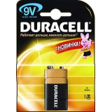 Элемент питания Крона  Duracell 9V (6LR61-1BL)