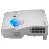 проектор nec um301x (um301xg+wm, um301xg+wk) 3хlcd (1024x768)xga, 3000 ansi, 6000:1, vga, 2xhdmi, usb(a)х2, rj45, rs-232, настенный крепёж np04wk, ультракороткофокусный