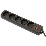 Фильтр питания Defender ES 1.8 м (5 роз) черный (99484)