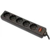 Фильтр питания Defender ES 3 м (5 розеток) черный (99485)