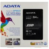 """Жесткий диск SSD 2.5"""" SATA III 64Gb A-Data SP600 (7 мм, MLC, R430Mb/W70Mb, R33K IOPS/W17K IOPS, 1M MTBF) (ASP600S3-64GM-C)"""