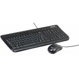 Клавиатура + мышь Microsoft Wired Desktop 600 USB черный (APB-00011) RTL
