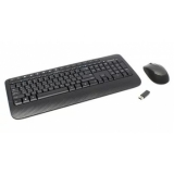 Клавиатура + мышь Microsoft Wireless Desktop 2000 USB черный (M7J-00012) RTL