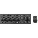Клавиатура + мышь A4TECH 7100N клав:черный мышь:черный USB беспроводная(7100N)