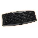 Клавиатура Jet.A SlimLine K17 W беспроводная мультимедийная с 14 клавишами быстрого доступа черная USB