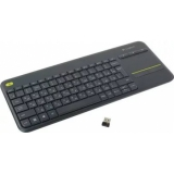 Клавиатура Logitech K400 Wireless Touch Plus черная (920-007147)