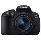 """Фотоаппарат Canon EOS 700D черный 18Mpix EF-S 18-55mm f/3.5-5.6 DC III 3"""" 1080p Full HD SD Li-ion (с объективом) (8596B095)"""