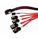 Кабель Adaptec ACK-I-HDmSAS-4SAS-SB-0.8M SFF-8643 (mini SAS HD int) to 4xSFF-8482 (SAS), 80 см, для подключения контроллера SAS/SATA напрямую к дискам SAS или бэкплейну SAS/SATA (2280100-R)