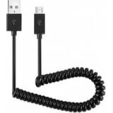 Кабель USB 2.0 AM/microBM 1 м (пакет) витой, черный (Gembird CC-mUSB2C-AMBM-1M)
